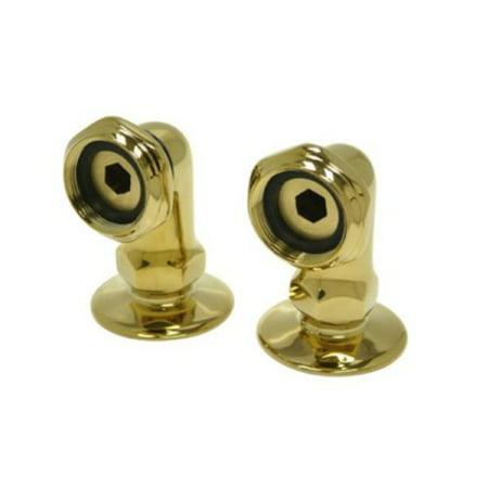Kingston Brass Cc2Rs2 Leg Tub Filler Riser - laiton poli - Vendus par paire - image 2 de 2
