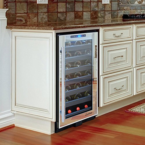 Vinotemp 33-Bottle Mirrored Touch Screen Wine Cooler