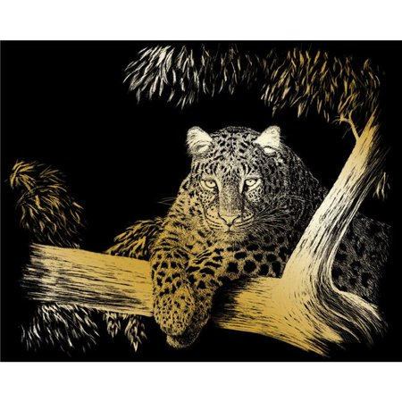 Gold Engraving Art (Spotted Gold Foil Engraving Art Kit - 8 x 10 in. )