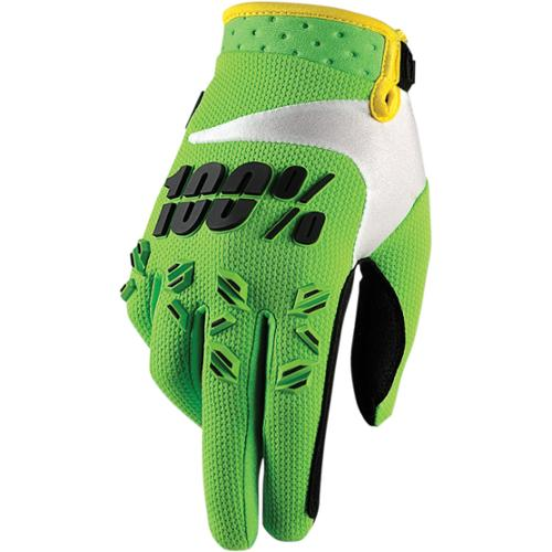 100% Airmatic Youth MX Gloves Green SM