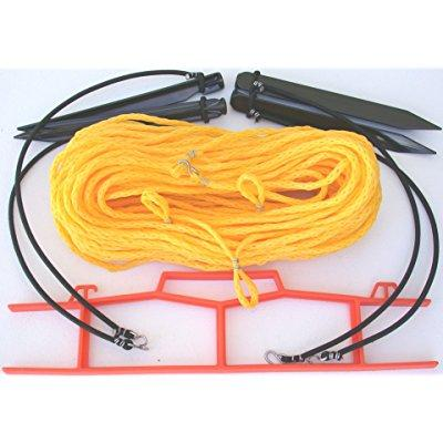 home court 25s volleyball boundary rope, yellow, size 30 x 60