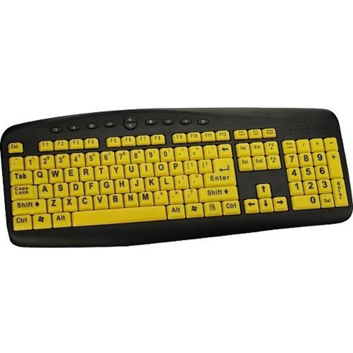 Ergoguys High Visibility Large Print Soft Touch Wired Keyboard
