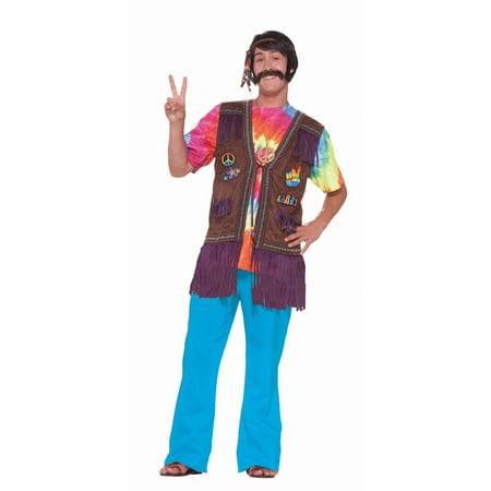Halloween Hippie Peace Vest - Male Hippie Outfits