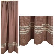 Burgundy Berry Vine Country Shower Curtain