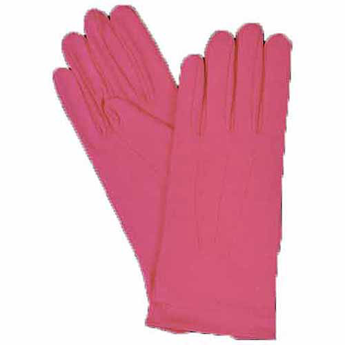 Hot Pink Nylon Gloves with Snap Adult Halloween Accessory