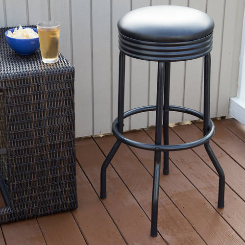 Outdoor Ribbed Swivel Barstool