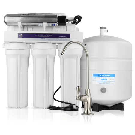 APEX MR-6051 Drinking Water Filter System with Advanced Disinfectant UV Reactor