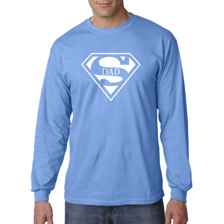 New Way 163 - Unisex Long-Sleeve T-Shirt Superdad Superman Logo Parody Dad](Super Man Shirt)