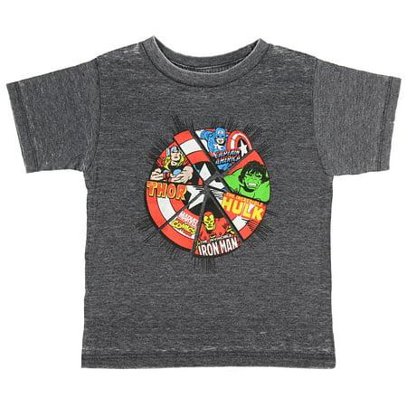 Marvel Comics The Avengers Superhero Power Shield Toddler Boys T-Shirt - Toddler Superhero
