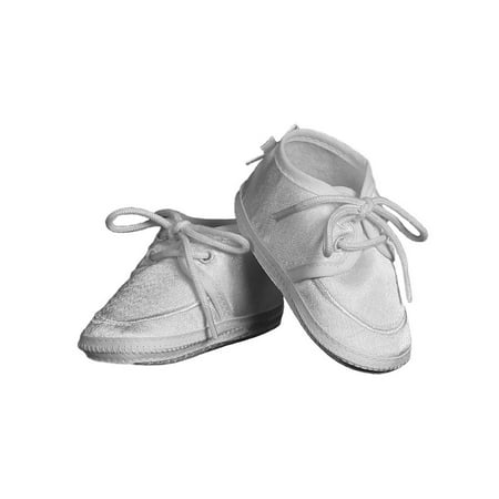 Christening Day Baby Boys White Satin Lace-up Oxford Bootie](Vans Baby Booties)