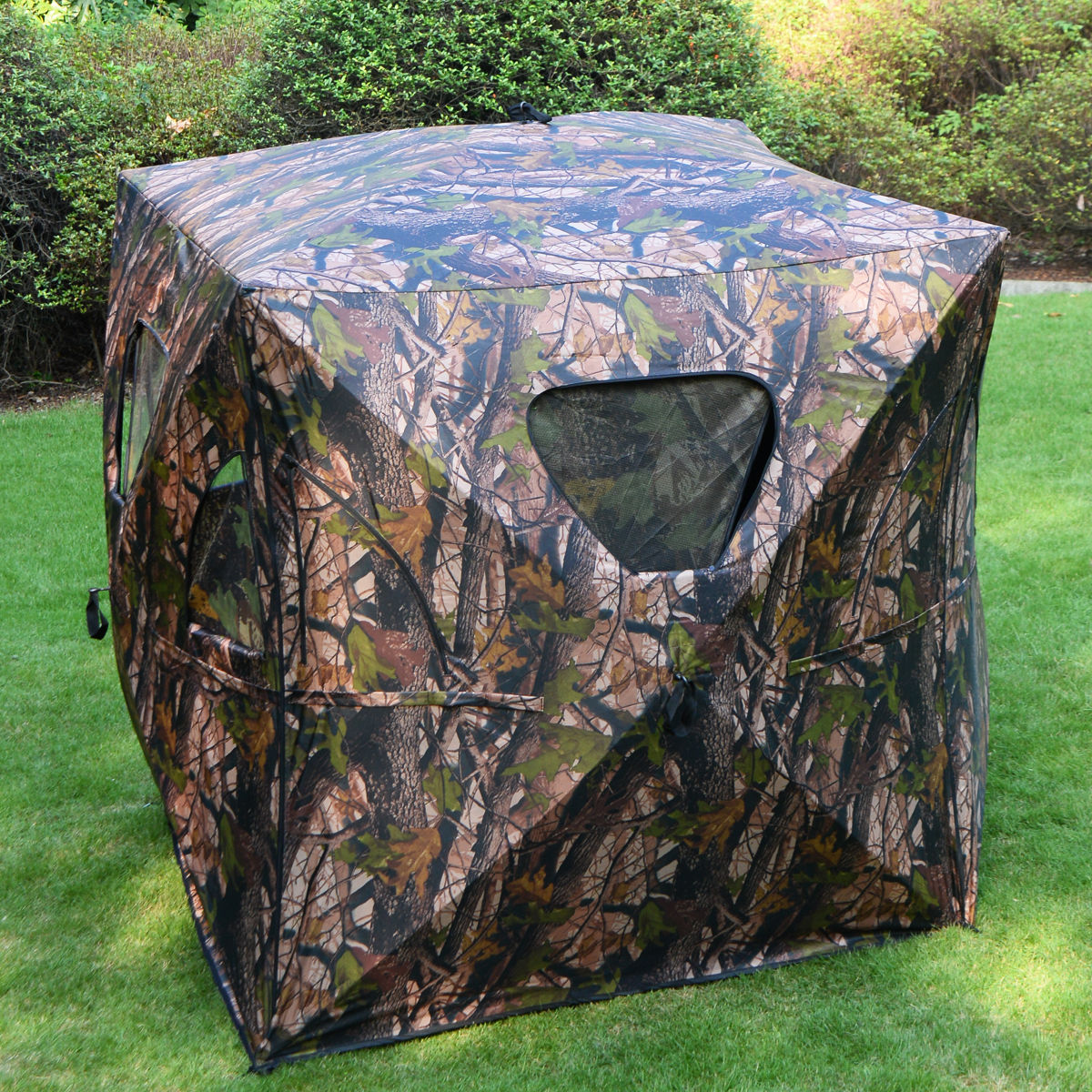 tent pop hunting blinds ground deer pin turkey wood tree hunt up blind real camo