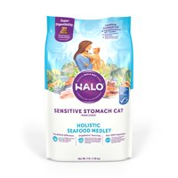 Halo Natural Dry Cat Food, Sensitive Stomach Seafood Medley, 3-Pound Bag