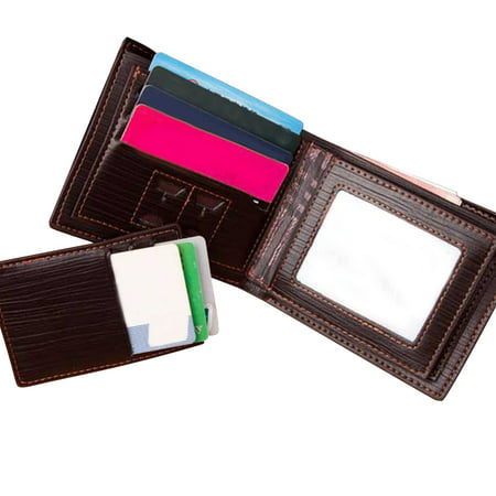 375e30a9dad4 ONLINE - RFID Blocking Men's Leather Wallet With Removable Card Case-Coffee  - Walmart.com