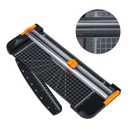 A4 Guillotine Blade Gridded Paper Trimmer Manual Paper Cutter for Offices Photo Studio with Folding Scale