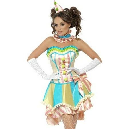 Smiffy's Fever Boutique Vintage Clown Costume 45367 Multi Color Small, Small