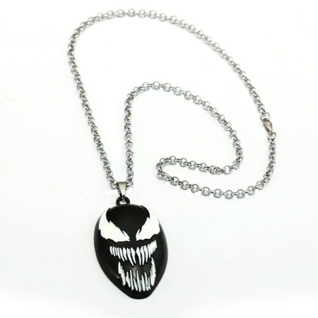 Venom Necklace Spider-Man Arch Enemy Anti-Superhero Tarnish Resistant Pendant,Je-311-VN](Spiderman Jewelry)