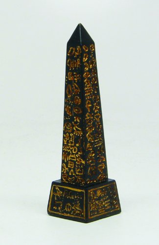3 Inch Obelisk Structure Egyptian Mythological Resin Statue Figurine by PTC by PTC