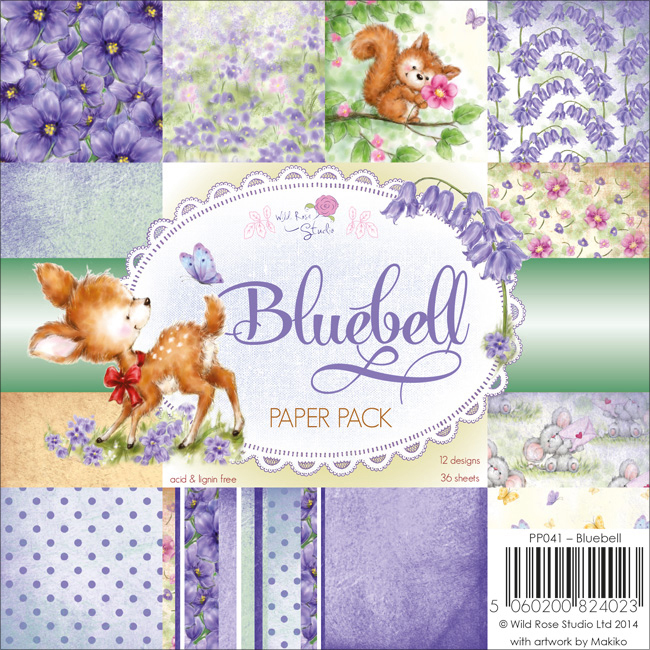 "Wild Rose Studio Ltd. Single-Sided Paper Pack 6""X6"" 36/Pkg-Bluebell"