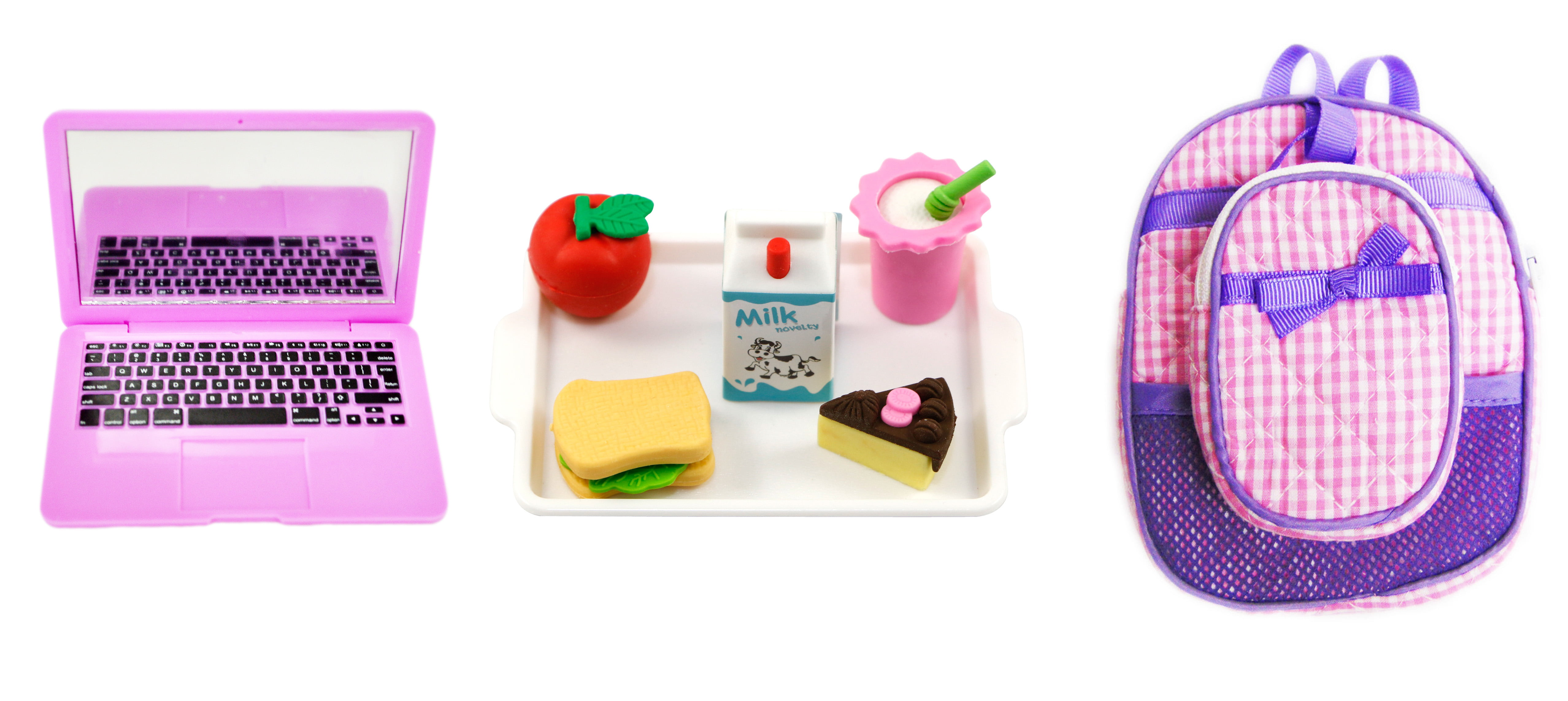 My Brittany's Lavender and Pink Backpack and Lunch Box Set with Accessories for American... by
