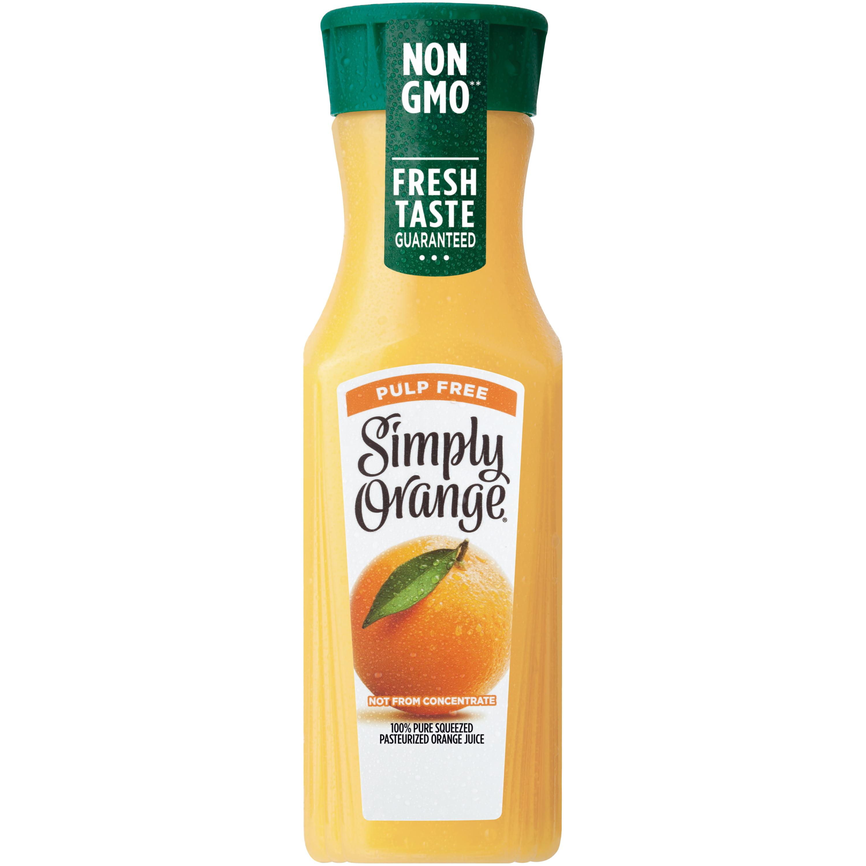 Simply Orange Pulp Free Orange Juice, 11.5 fl oz