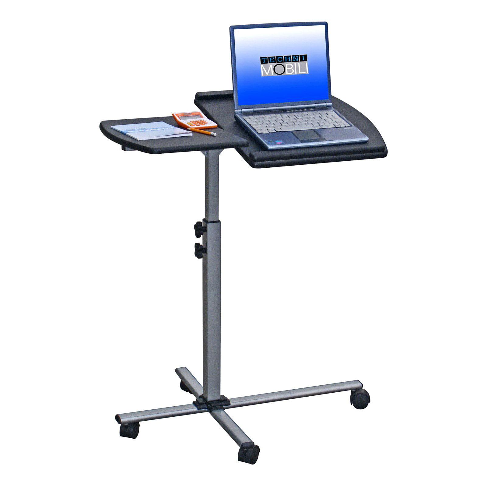 Techni Mobili Deluxe Rolling Laptop Stand, Graphite   Walmart.com