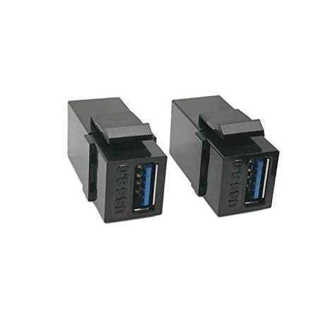 USB 3.0 Keystone Jack Inserts, Haokiang (2-Pack) USB 3.0 Adapters Female to Female Coupler Insert Connector Wall Plate - image 4 de 4