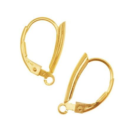 Teardrop 14k Gold Filled Earrings (14KT Gold Filled Earrings Leverbacks with Teardrop Motif (1 Pair) )