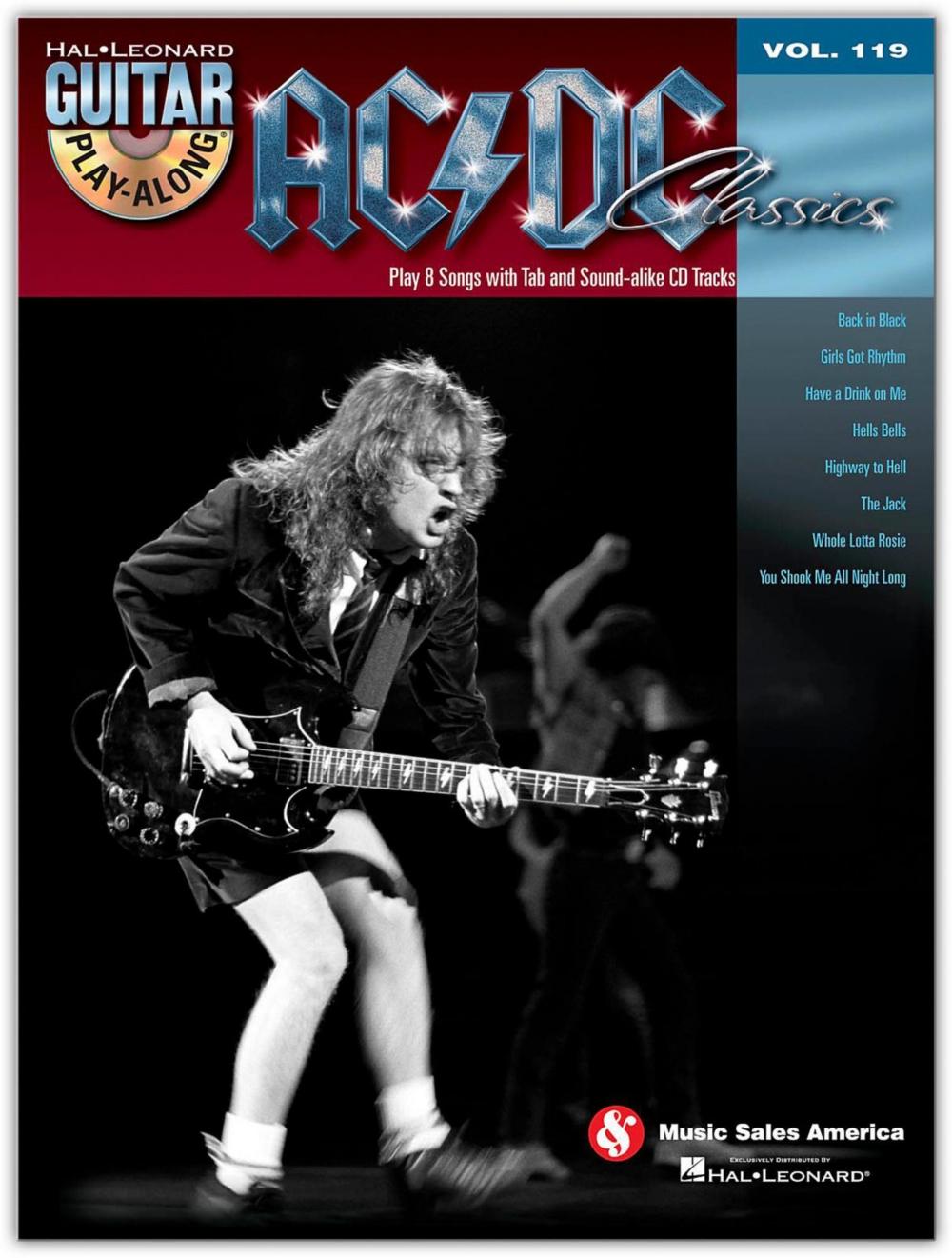 Hal Leonard AC DC Classics Guitar Play-Along Volume 119 (Book CD) by Hal Leonard Corporation