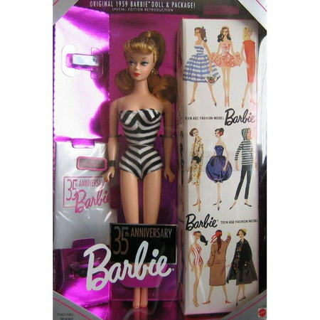 Barbie 35th Anniversary Special Edition Reproduction of Original 1959 Barbie Doll & Package (1993) - Blonde Hair (Barbie 35th Anniversary Doll)