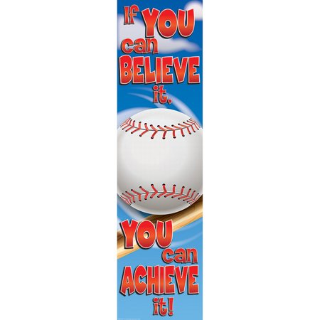 BASEBALL MOTIVATIONAL BANNER 4FT](Baseball Banner)
