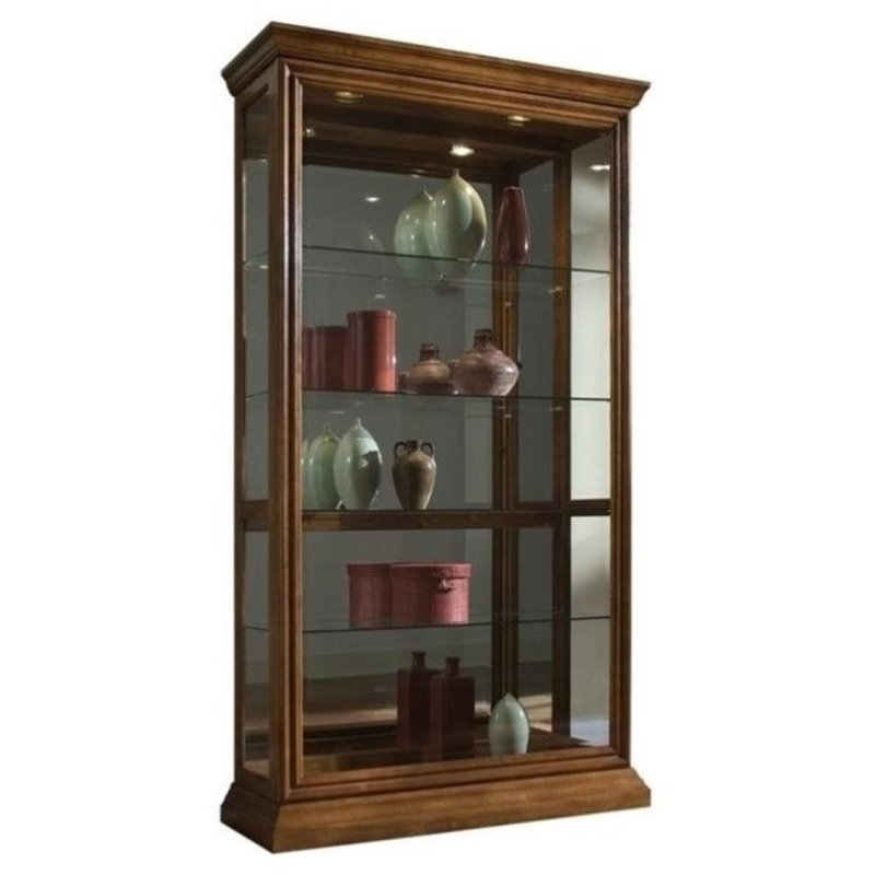 Beaumont Lane Curio Cabinet in Golden Oak by Beaumont Lane