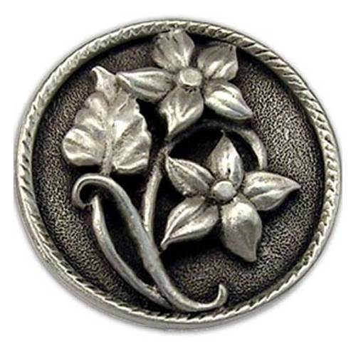 Lilies lft knob (Set of 10) (Antique Bronze)
