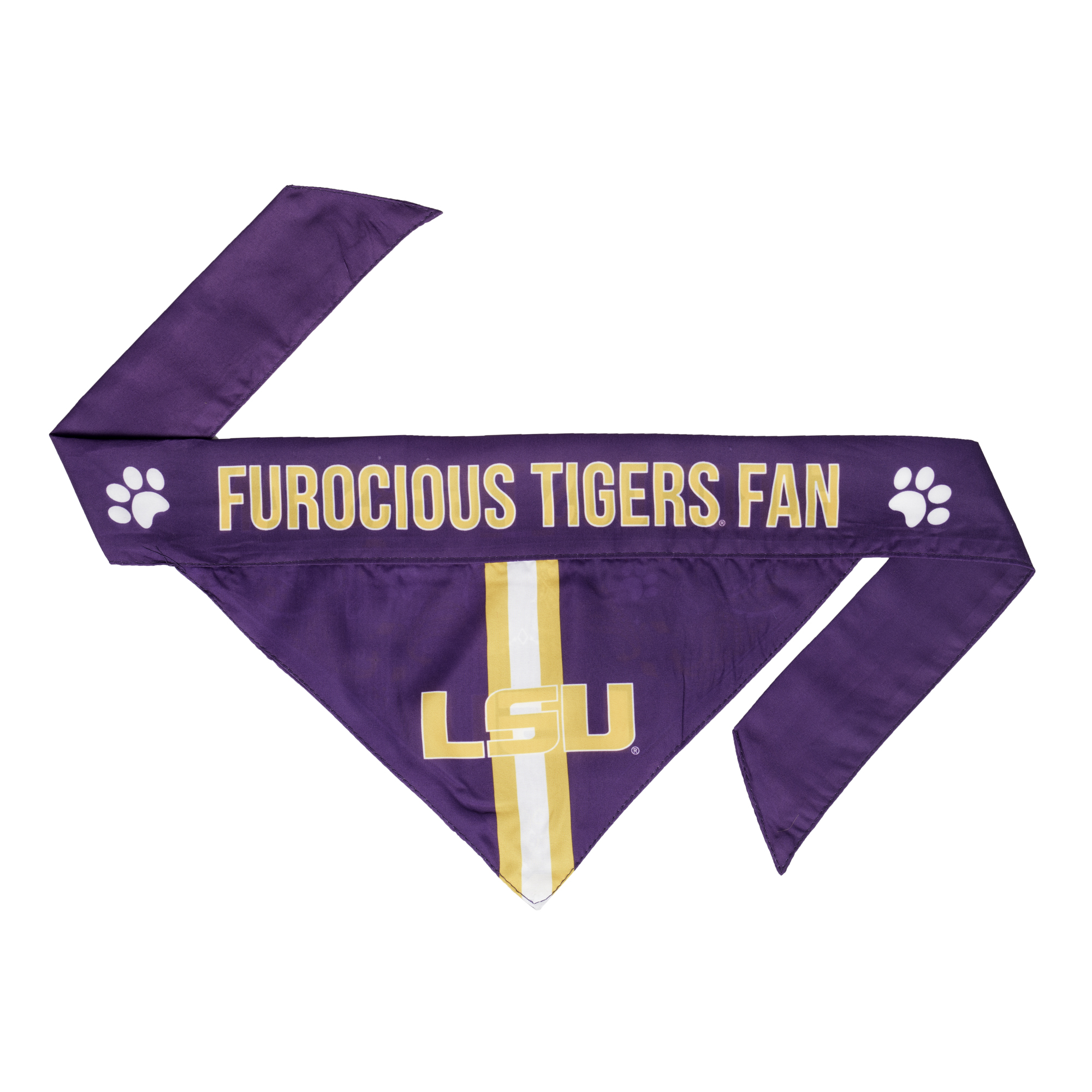 LSU Tigers Pet Bandanna Size XL