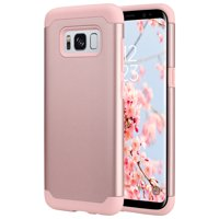Galaxy S8 Case, ULAK Slim Dual Layer Slim Fit Hybrid Hard Back Cover and Soft Silicone Protective Case for Samsung Galaxy S8