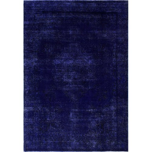 Isabelline One-of-a-Kind Raj Vintage Hand-Knotted 6'3'' x 9'3'' Wool Purple Area Rug