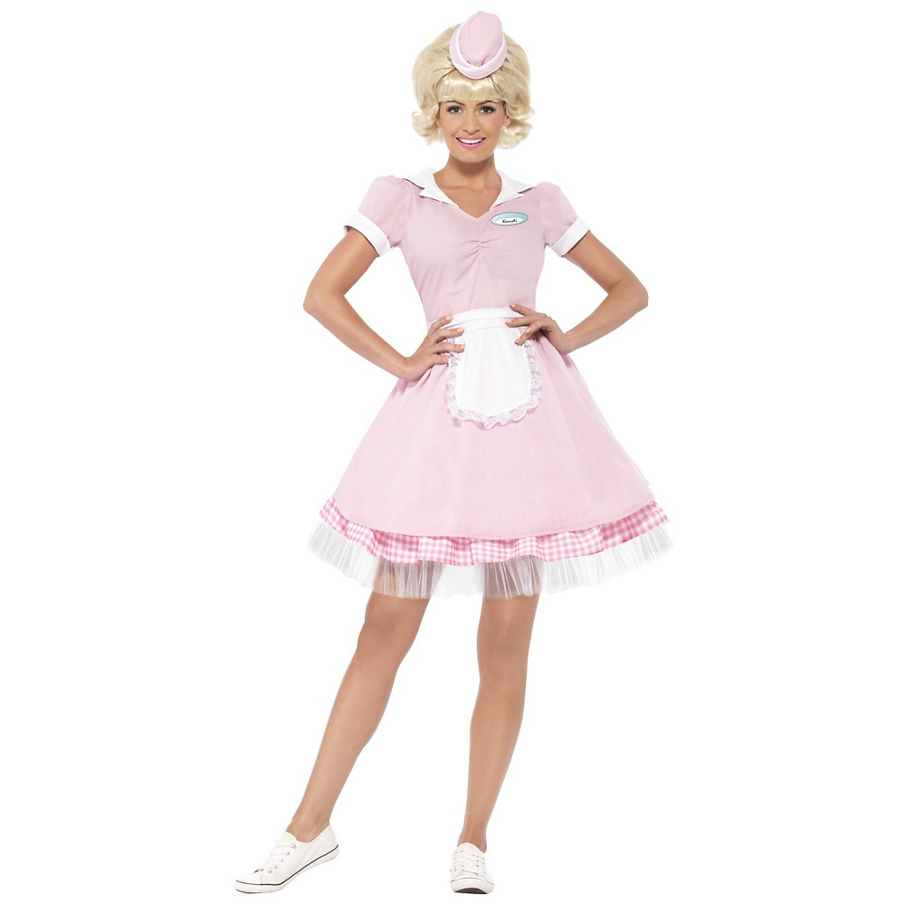 Smiffys 50s Diner Girl Adult Costume - Medium