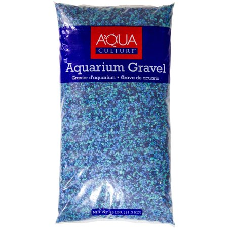 Aqua culture caribbean aquarium gravel 25 lb for Walmart fish gravel