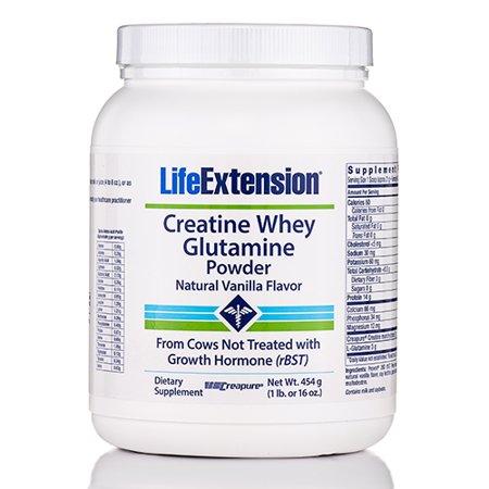 Créatine Whey Glutamine (Arôme vanille naturelle) - 16 oz (454 g) de L
