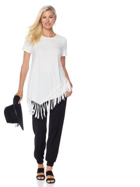 69a7f15a01b978 Product Image Serena Williams Asymmetric Fringe Statement Top 541-225