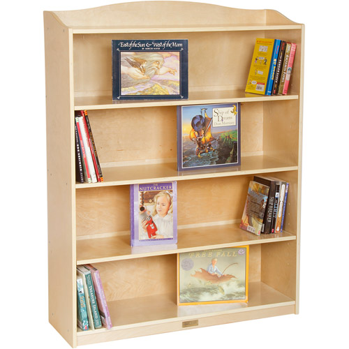 Guidecraft 5-Shelf Bookshelf, Natural