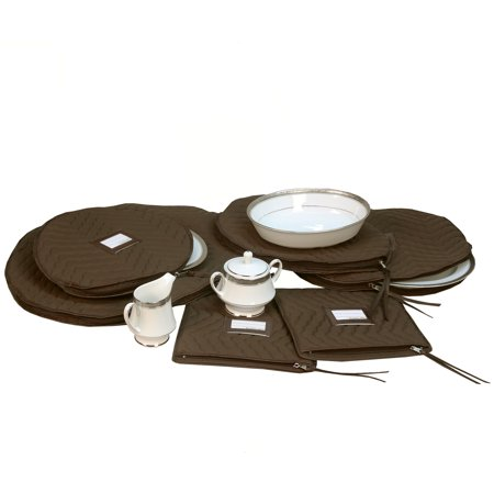 6 Pieces of Fine China Dinnerware Accessory Storage Set - (6 Piece China Storage)