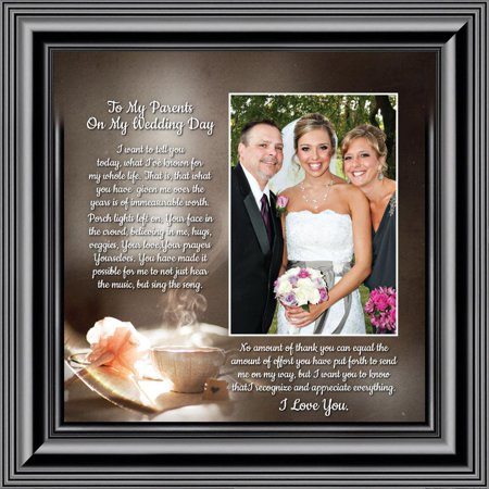 To My Parents on My Wedding Day, Marriage Day Gift For Mom and Dad from Bride or Groom, 10x10 - Gifts For The Bride From The Groom