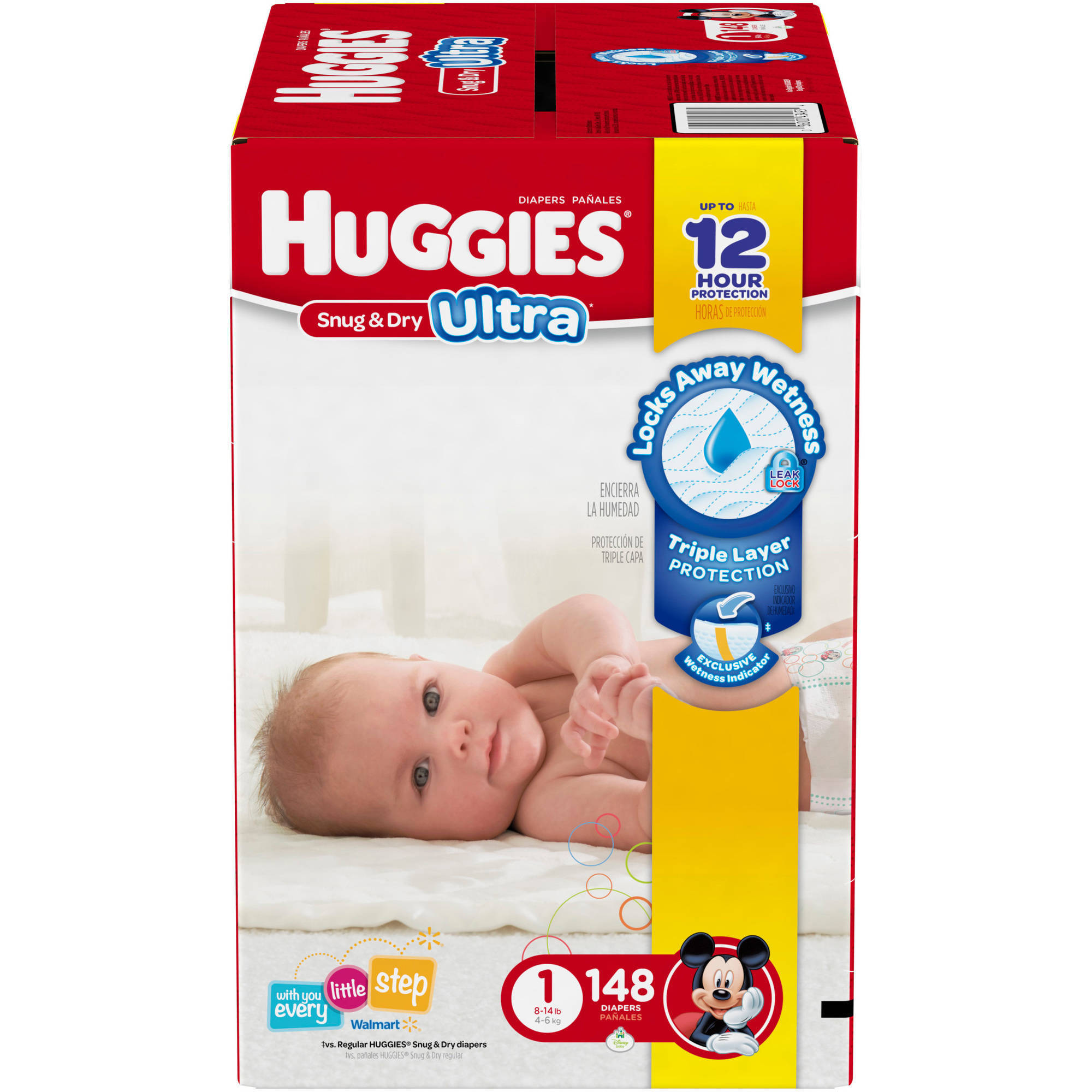 HUGGIES Snug & Dry Ultra Diapers, Size 1 (Choose Diaper Count)