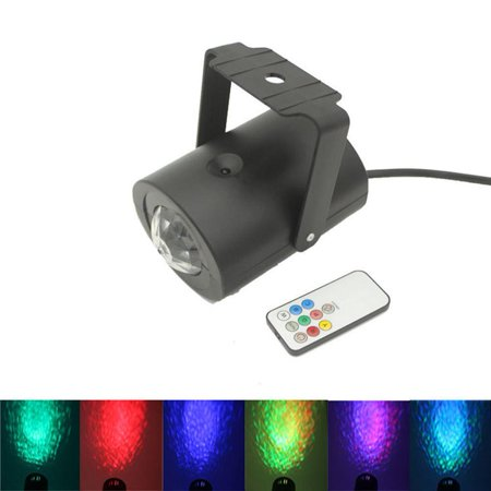 Lightahead LED RGB Water Effect Light with remote in plastic shell Remote controlled Water Wave Ripple Effect Projector Stage Lighting for Wedding Home Party - Concert Led