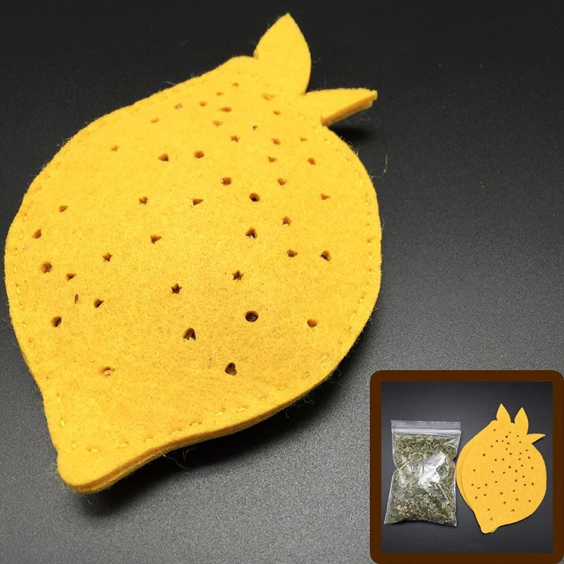 KOTA PET Authorized DIY Lemon Pie Designed Silvervine Powder Catnip Cat Toys by Unique-Bargains
