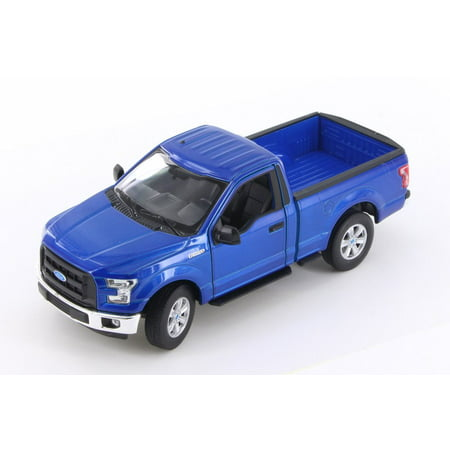 2015 Ford F-150 Regular Cab Pick Up, Metallic Blue - Welly 24063/4D - 1/24 Scale Diecast Model Toy Car (Brand New but NO (Regular Cab Models)