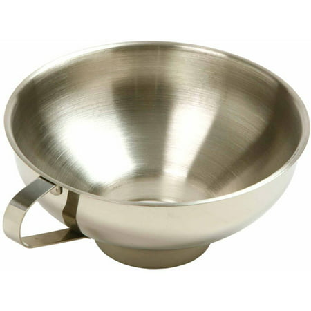 Norpro 248 Stainless Steel Wide Mouth Funnel with (Warmer Stainless Steel Funnel)