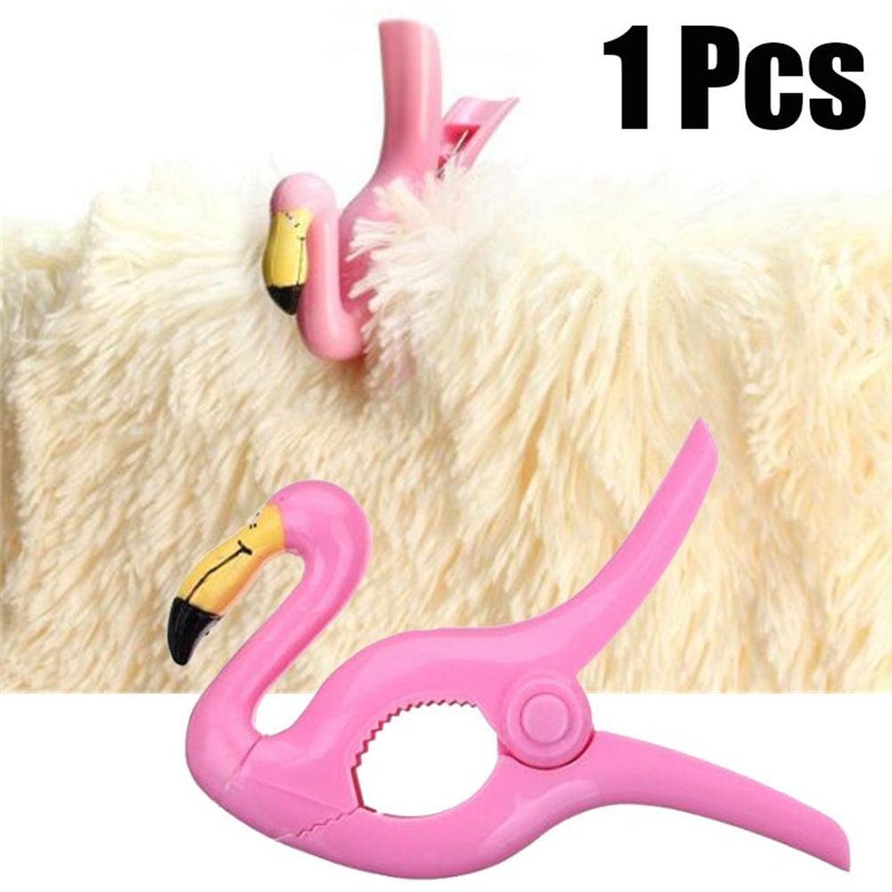 Girl12Queen Towel Clips Hanger Flamingo Clothes Grip Clothespin Portable Beach Accessory