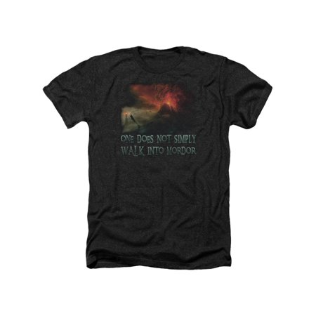 The Lord of The Rings Movie Walk In Mordor Adult Heather T-Shirt Tee (Lord Of The Rings Adult Onesie)