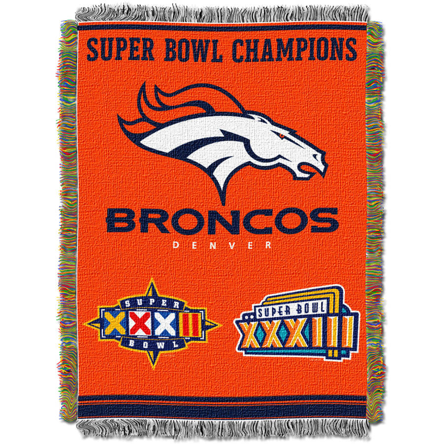 "NFL 48"" x 60"" Commemorative Series Tapestry Throw, Broncos"